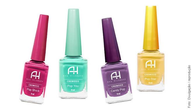 8fbaca9ac0a48 Ana Hickmann lança coleção de esmaltes AH! POP! -