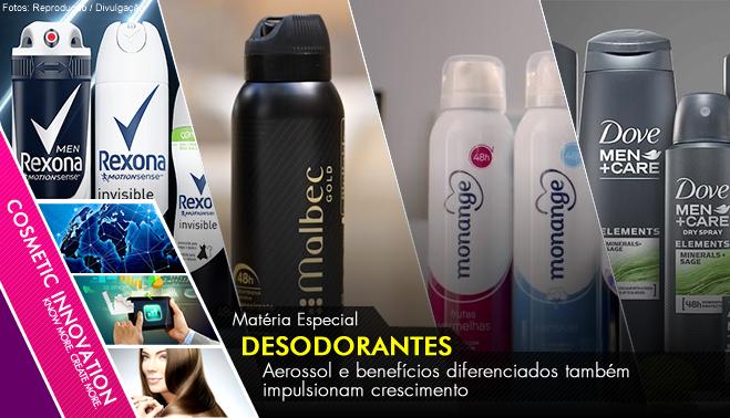 9b0c7815c Aerossol e benefícios diferenciados também impulsionam crescimento Por  Estela Mendonça Segundo maior consumidor mundial de desodorantes, o Brasil  registrou ...